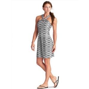 Athleta Kiki Swim Dress Black White Print Size M